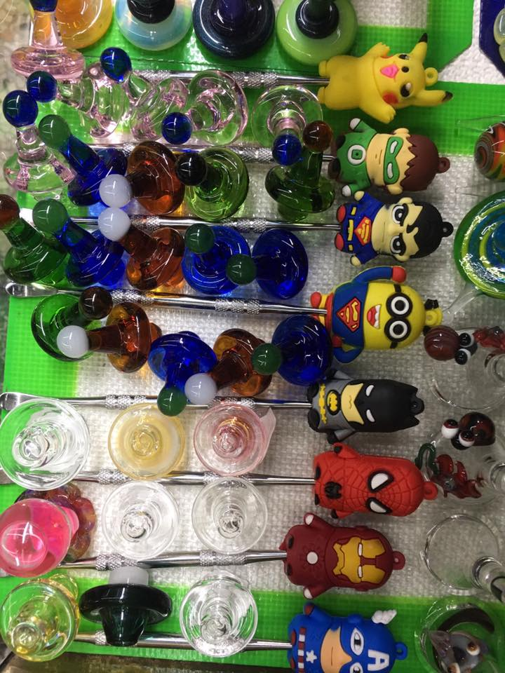 glass pipes, e nails, hand pipes