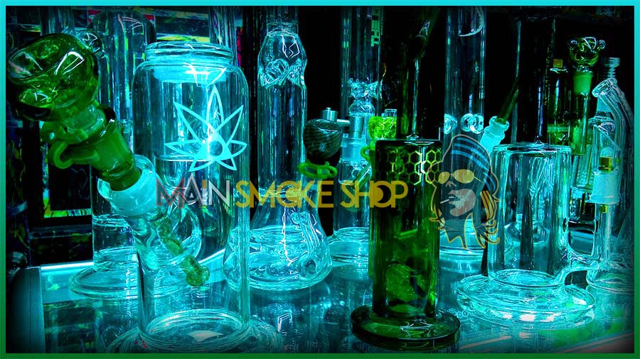 green-glass-pipes