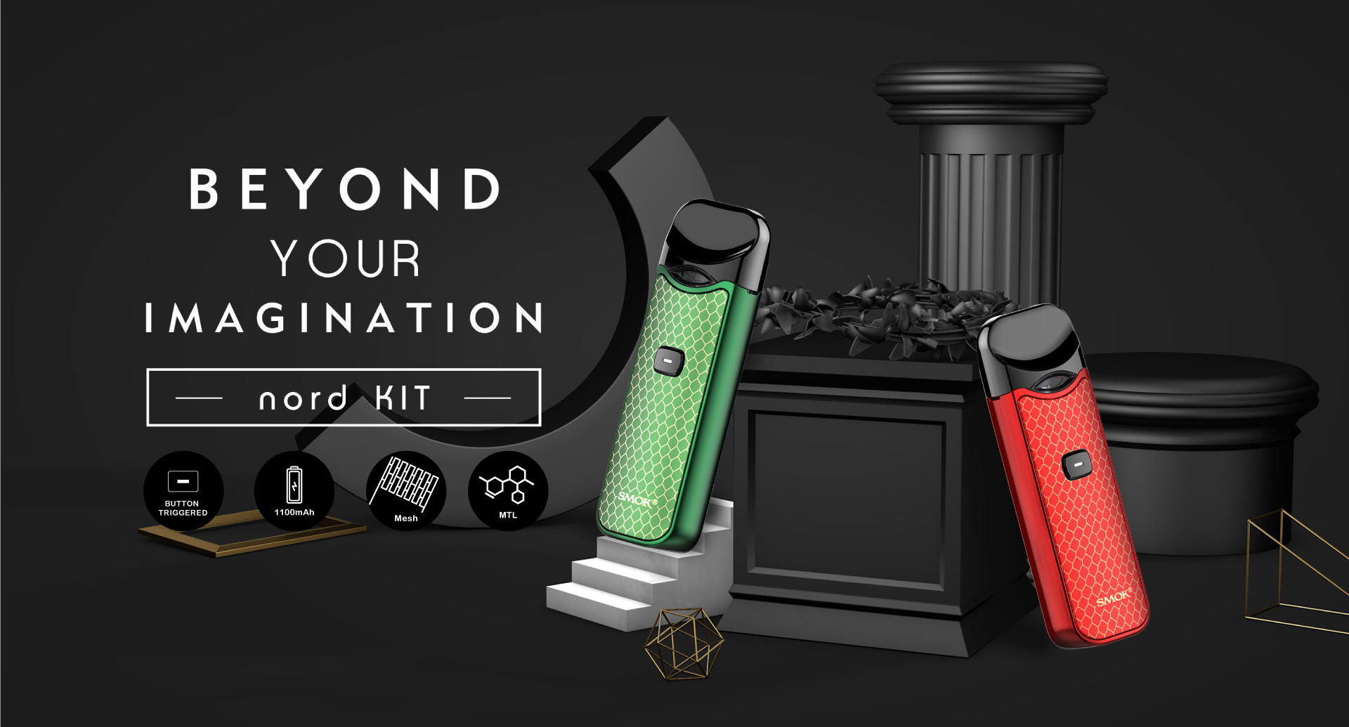 Nord Kit — A new pod system for multiple and lungful vaping experiences
