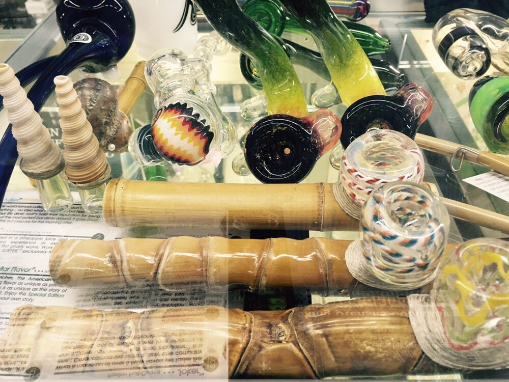 Wood & Glass Pipes