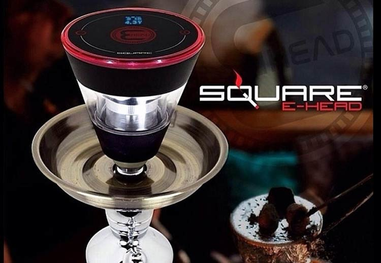Square E-Head Hookah Bowl