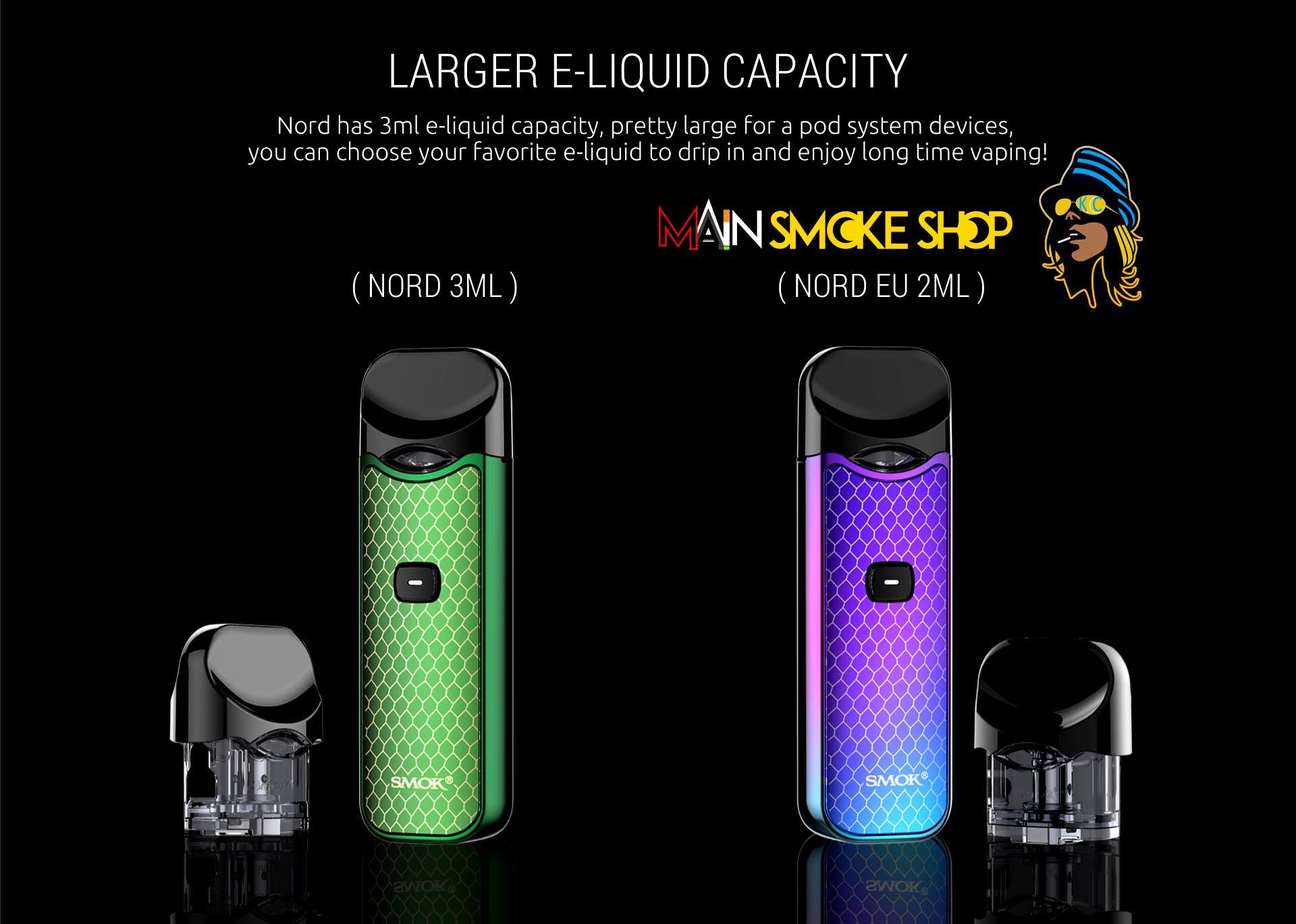 E liquid capacity