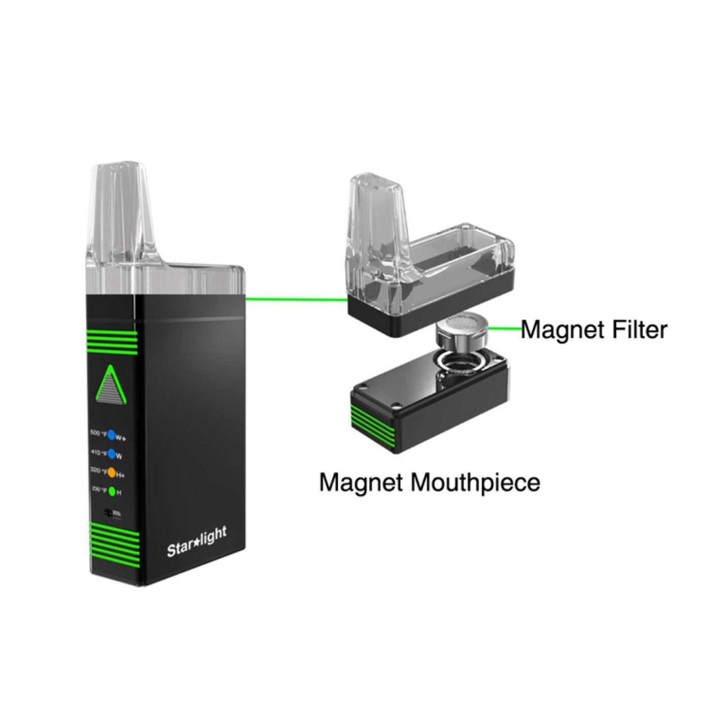 Starlight vaporizer magnet filter