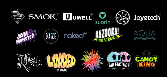 Vaping and smoking brands