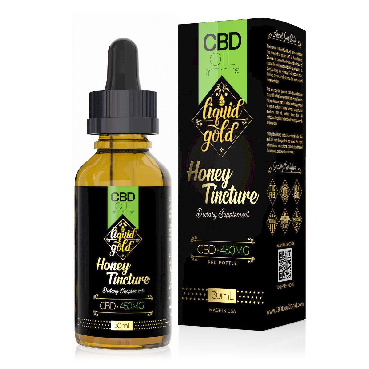 Liquid Gold CBD Oil Honey Tincture